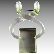 Lucite Brooch Ice Tongs Holding Cube