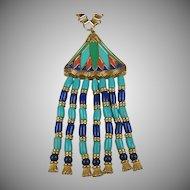 SALE Hattie Carnegie Egyptian Style Pendant Book Piece
