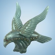 'Moonglow' Majestic Eagle Brooch 1940's Book Piece