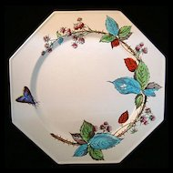 Aesthetic Polychrome Transfer Plate ~ RASPBERRIES 1877