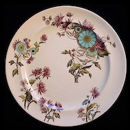 Aesthetic Brown Polychrome Plate ~ OVERTON 1883