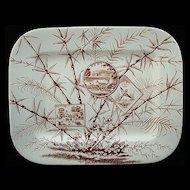 Large Aesthetic Transferware Platter ~ Deer 1883