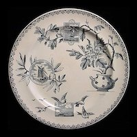 Aesthetic Blue Transferware ~ Sunrise 1885