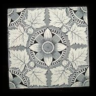Victorian Aesthetic Tile ~ Grey Maples 1885
