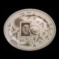 Aesthetic Brown Transfer Platter ~ PERAK 1885