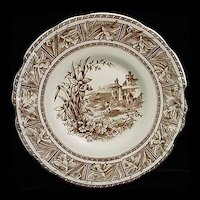 Victorian Aesthetic Cake Plate ~ DAFFODIL 1872