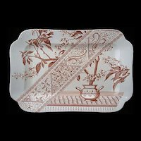 Brown Transferware Aesthetic Platter ~ CHESTERFIELD 1886
