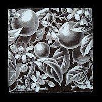 Brown Victorian Movement Tile ~ ORANGES 1880