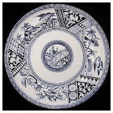 Dark Blue Aesthetic Transferware Plate ~ CONGO 1883
