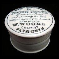 "English ""Quack Medicine"" Tooth Paste Pot and Lid 1890"