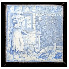 Wedgwood August Months Tile Trivet 1879