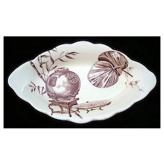 Brown Aesthetic Transfer Relish Dish ~ PARAGON 1880