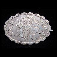 Fine Victorian Sterling Silver Aesthetic Brooch ~ Birmingham 1889
