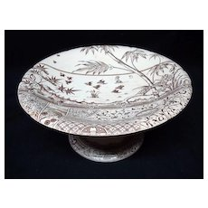 English Aesthetic Movement Raised Cake Compote ~ MELBOURNE 1883