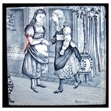 Tile ~ Wedgwood Months ~ JANUARY 1879