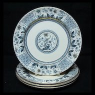 Set of Antique Victorian Transferware Plates ~ NORMAN 1875