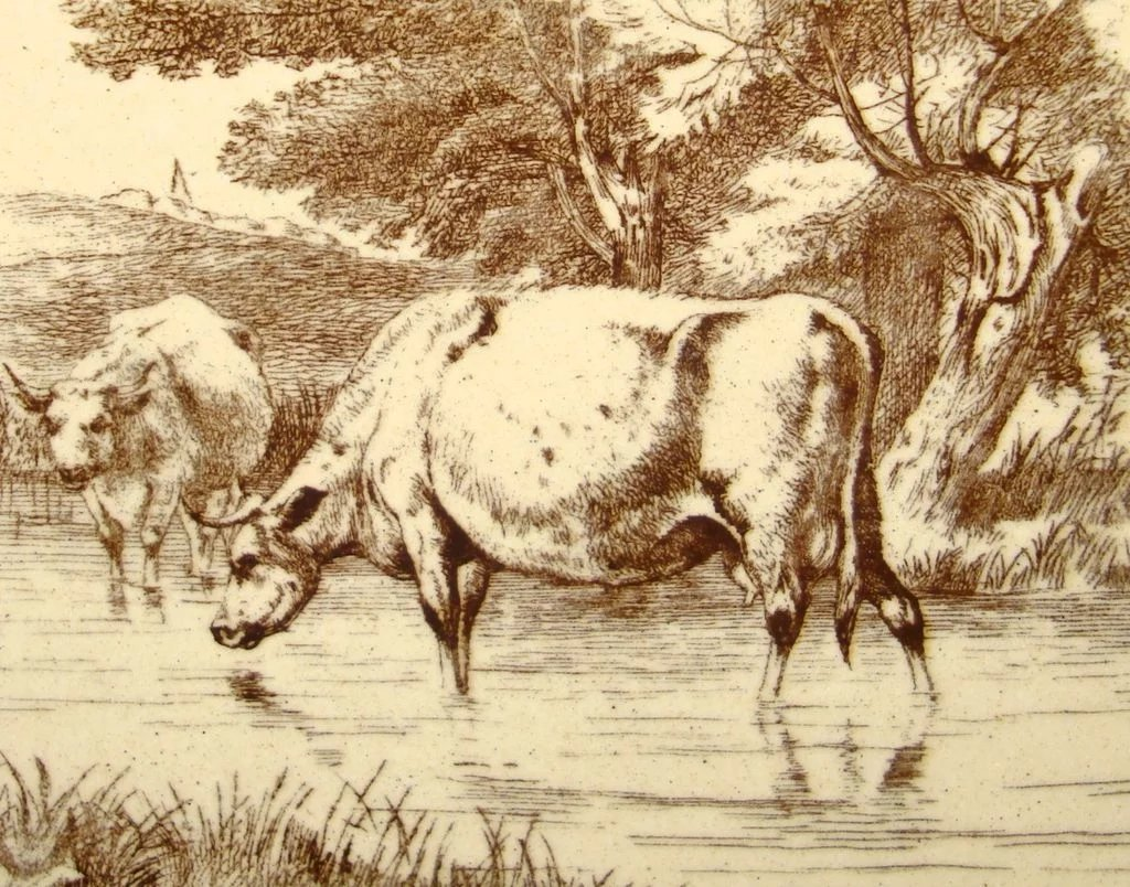 William Wise Tile Farm Cows 1879 Aesthetic Movement
