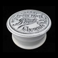 Victorian Cherry Tooth Paste Pot and Lid 1890