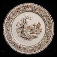 Aesthetic Transferware  Plate ~ DAFFODIL 1882