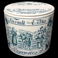 Rare Ceramic Navrati Extra Tobacco Box