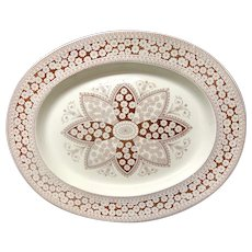 Huge Victorian Aesthetic Movement Era Platter ~ PRIMROSE 1881