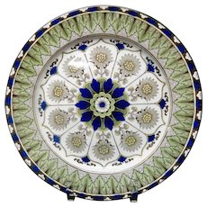 Stunning Antique English Transferware Plate ~ CYPRUS 1890