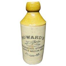 Howard's Ginger Beer Stoneware ~ Race Horse ~ 1890