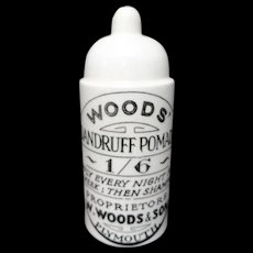 Woods Dandruff Pomade Quack Medicine Pot