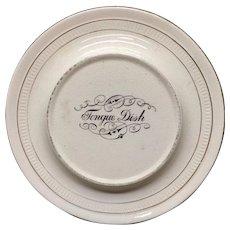 Victorian Ironstone Raised TONGUE Dish Plate