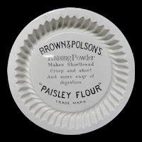 Victorian Ironstone Advertising Raising Baking Dish ~ 1891