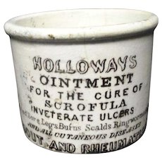 Quack Medicine ~ Tuberculosis Ointment Pot ~ 1880