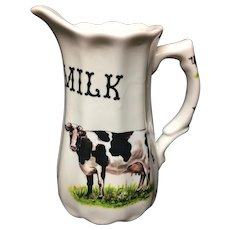 Pure Milk English Pitcher ~ 20th Century