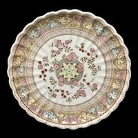Brown Aesthetic Movement Transfer Charger Platter ~ GORDON 1885