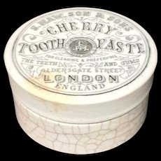 Quack Medicine Victorian Areca Nut Indian CHERRY Tooth Paste Pot 1885
