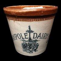 1920 ~ Pictorial 4 Pound MAYPOLE Dairy Crock