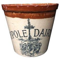 1920 ~ Pictorial 2 Pound MAYPOLE Dairy Crock