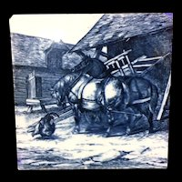 1879 ~ William Wise Minton Tile ~ Farm Horses