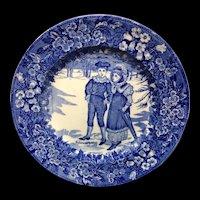 1898 ~ Wedgwood Months Plate ~ FEBRUARY ~ Winter Walk