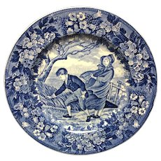 1898 ~ Wedgwood Months Plate ~ March ~ Chasing Hat