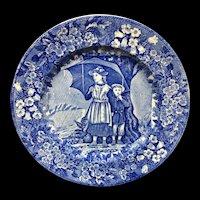 1898 ~ Wedgwood Months Plate ~ APRIL ~ Ship Harbor