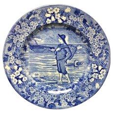 1898 ~ Wedgwood Months Plate ~ NOVEMBER Fish Basket