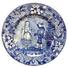 1898 ~ Wedgwood Months Plate ~ DECEMBER Mistletoe