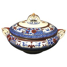 Pottery, Porcelain & Glass Lovely Melville B&s Large Blue And White Tureen 1840-1900