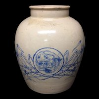 Large Stoneware Ginger or Curry Paste Jar Pot ~ c1900