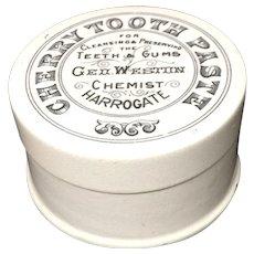 1885 ~ Quack Medicine Victorian CHERRY Tooth Paste Pot