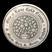 English Otto of Roses COLD CREAM Pot ~ 1880