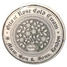 English Otto of Roses COLD CREAM Pot ~ 1880