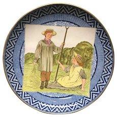 Wedgwood Months Tazza Cake Plate ~ JUNE ~ Summer Wheat 1898