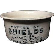 19th Century Victorian Fish Paste Pot 1895