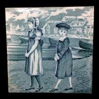Tile ~ 1879 ~ Wedgwood Months ~ JULY ~ Helen Miles Artist